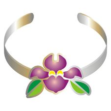 Free Bracelet With A Purple Flower Stock Photos - 2322653
