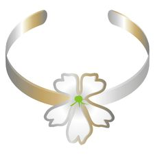 Free Bracelet With A White Flower Royalty Free Stock Images - 2322659