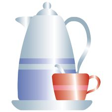Free Kettle And Cup Stock Photography - 2323162