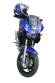 Free Dark Blue Motorcycle. Stock Photography - 2323212