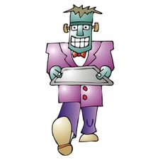 Frankenstein Butler Royalty Free Stock Image
