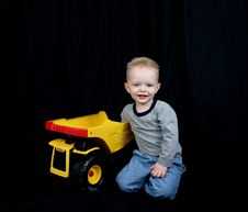 Free Cute Little Boy On Black Stock Images - 2324754
