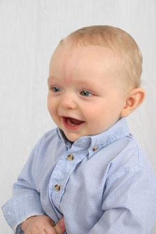 Cute Little Boy Smiling Stock Photos