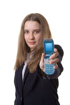 Free Girl With A Mobile Stock Photos - 2324953