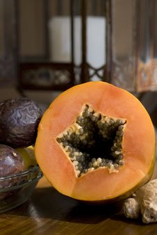 Free Fresh PawPaw And Passionfruit Royalty Free Stock Image - 2325116