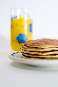 Free Orange Juice And Pancakes Stock Images - 2325224