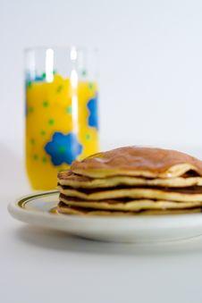 Free Orange Juice And Pancakes Royalty Free Stock Photos - 2325238