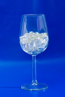 Sparkling Blue Wine Glass Royalty Free Stock Photography