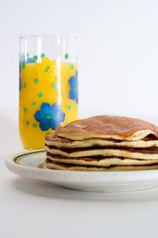 Free Orange Juice And Pancakes Royalty Free Stock Photos - 2325298