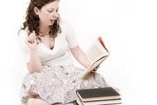 Free Woman Reading Stock Photo - 2325460