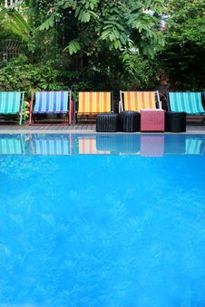 Free Deck Chairs Next To A Pool Royalty Free Stock Photography - 2325937