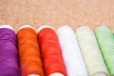 Free Six Rolls Of Cotton Royalty Free Stock Photo - 2326345