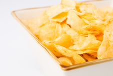 Free Chips In A Square Bowl Stock Images - 2326374