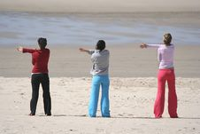Free Three Girls In The Beach Stock Image - 2326611