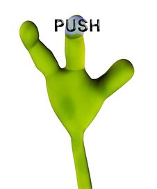 Free Alien Hand Pushing Button 225 Stock Photo - 2327400