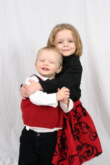 Free Brother And Sister Hugging Royalty Free Stock Photo - 2327525