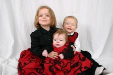 Free Three Kids Sitting Together Royalty Free Stock Photo - 2327545
