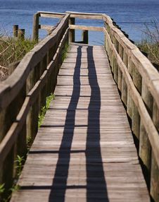 Free Lonely Florida Boardwalk Stock Photography - 2327742