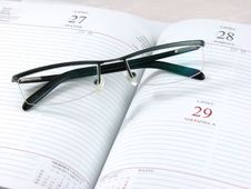 Free Planner With Glasses On The To Royalty Free Stock Image - 2328106