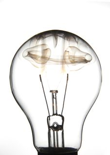 Free Clear Lightbulb Burning Stock Photo - 2329690