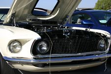 Free 1969 Ford Mustang Front Grill Stock Image - 2329691