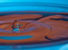 Free Droplet Falling In The Glass Of Water Stock Image - 23200001