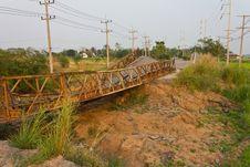 Free Broken Bridge. Royalty Free Stock Image - 23200336