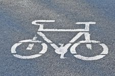 Free Bike Sign Royalty Free Stock Image - 23200356