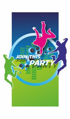 Join This Party Stock Photography
