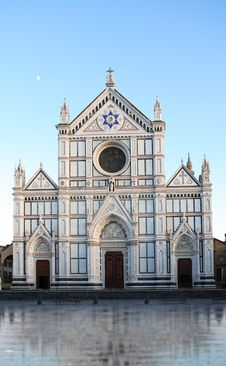 Santa Croce Church, Florence Stock Images