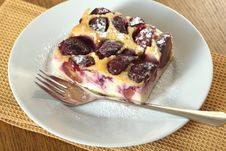 Free Clafoutis With Plums Stock Photo - 23202960