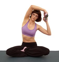 Free Young Woman Doing Exercises Stock Photo - 23203410