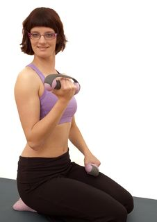 Free Young Woman Doing Exercises Stock Photo - 23203420
