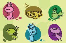 Free Cartoon Babies Set Stock Images - 23205244