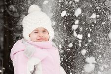 Free Little Girl And Snow Royalty Free Stock Photos - 23205638