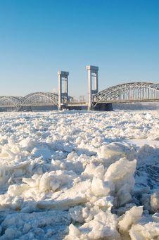 Free Bridge Over Frozen River Stock Photo - 23205650