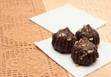 Free Chocolate Truffle Cakes Stock Photography - 23206782