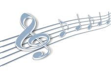 Free Music Notes 3d Stock Photos - 23206823