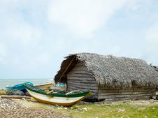 Free Fisherman Village In Sea Stock Image - 23207551