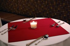 Free Valentines Dinner Table Stock Photography - 23207552
