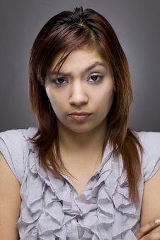 Free Latino Woman Looking Mad Royalty Free Stock Photos - 23208578