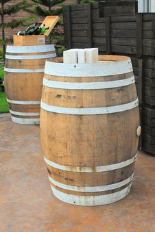 Free Wine Barrels Royalty Free Stock Photo - 23210965
