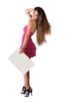 Free Beautiful Girl Professionally Pink Makeup Royalty Free Stock Photography - 23211357