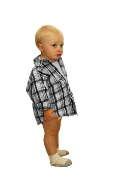 Free Little Boy In A Plaid Shirt Stock Photography - 23211442