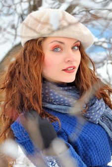 Free Woman In Winter Time Royalty Free Stock Photo - 23214815