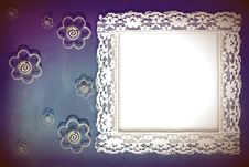 Free Background Framework, Lace And Flowers Stock Photo - 23222440