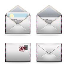 Free Mail Icons Set Royalty Free Stock Photos - 23226218