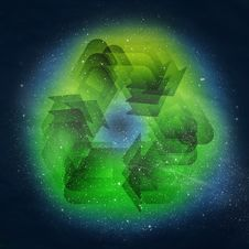 Free Recycle Symbol Royalty Free Stock Photography - 23226787