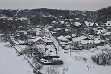 Village In Winter Stock Image