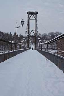 Free Bridge In Winter Stock Photo - 23227900